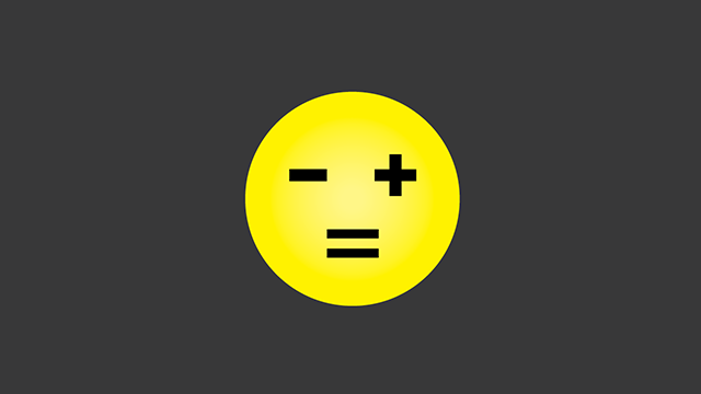 A happy face using a plus and minus sign as eyes 和 equal sign as mouth.