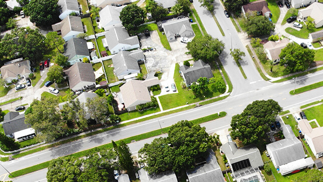 An aerial view of housing in Florida.